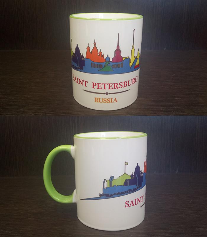 кружка сувенирная Saint-Petersburg Russia