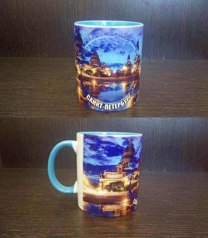 кружка Виды Санкт-Петербурга синий закат