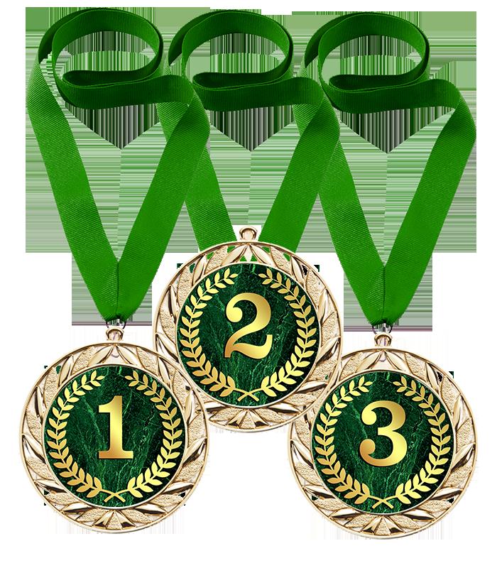 Медали комплект из трёх 1, 2, 3 место