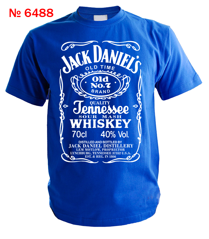 Футболка Jack Daniel's принт белого цвета