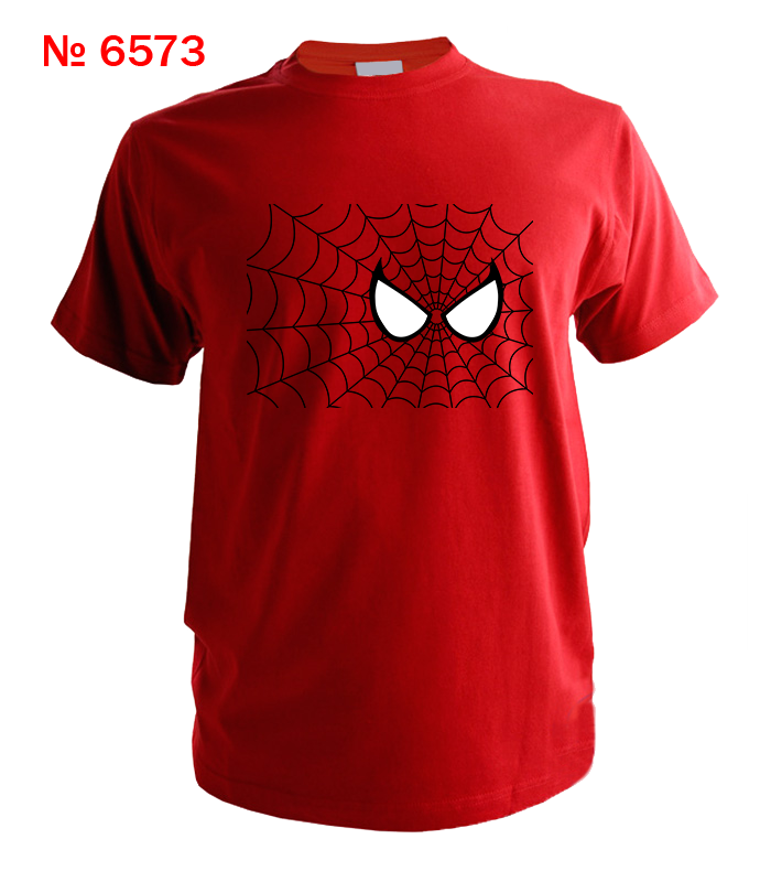 Футболка с принтом паутина человек паук № 6573