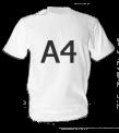 Классическая мужская футболка с принтом A4
