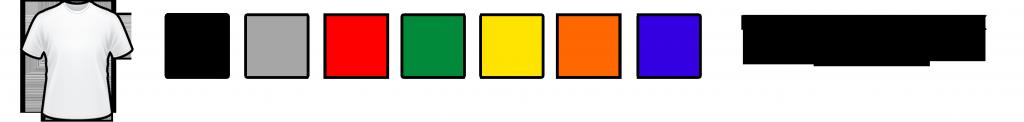 цвета цветных футболок